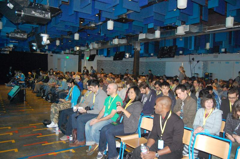 ReactJS Conf audience eagerly awaiting first keynote