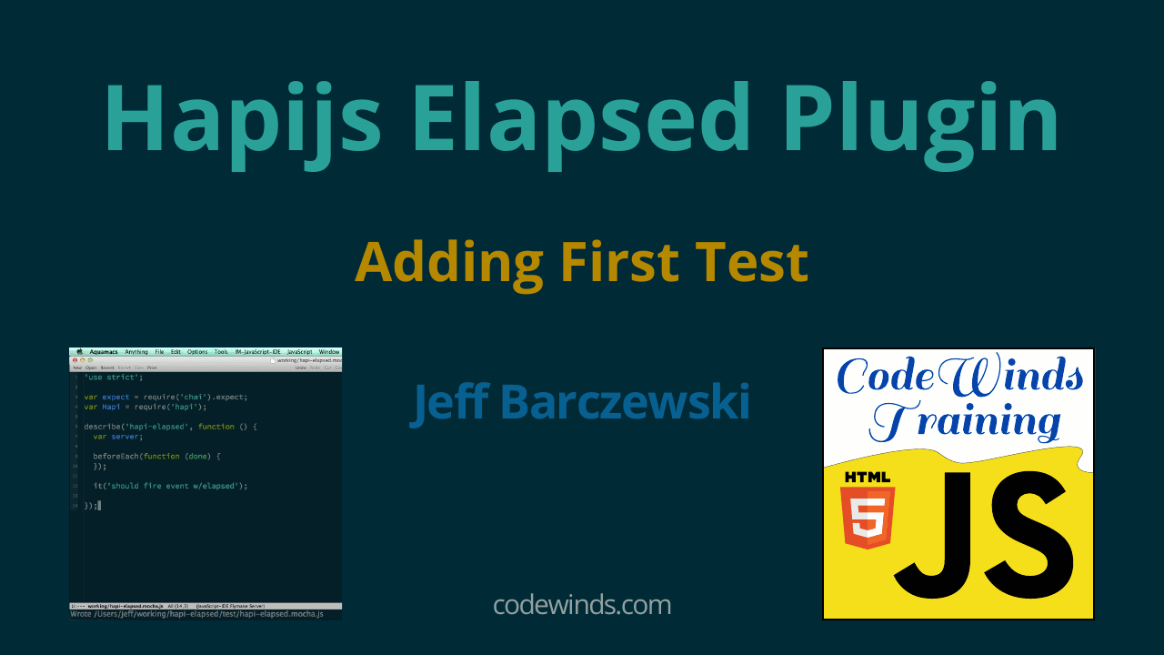 Hapijs Elapsed Plugin - TDD approach to building a Hapijs plugin