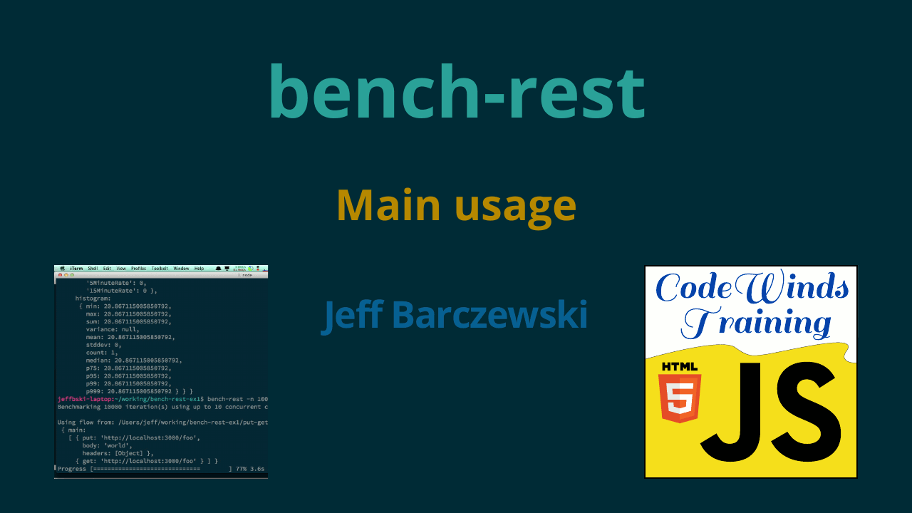 bench-rest - Main usage - Node js REST benchmark client
