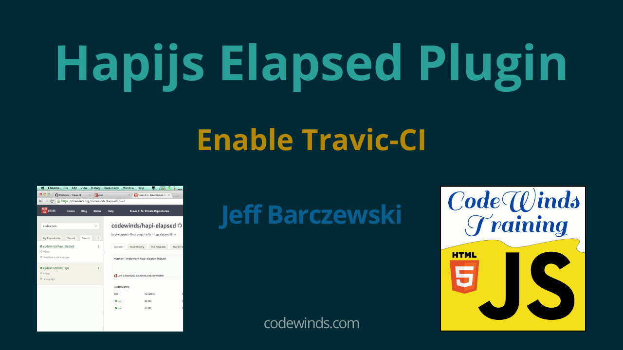 Hapi Elapsed Plugin - Enable Travis-CI   CodeWinds